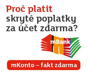 mBank odměna 1 000 Kč.